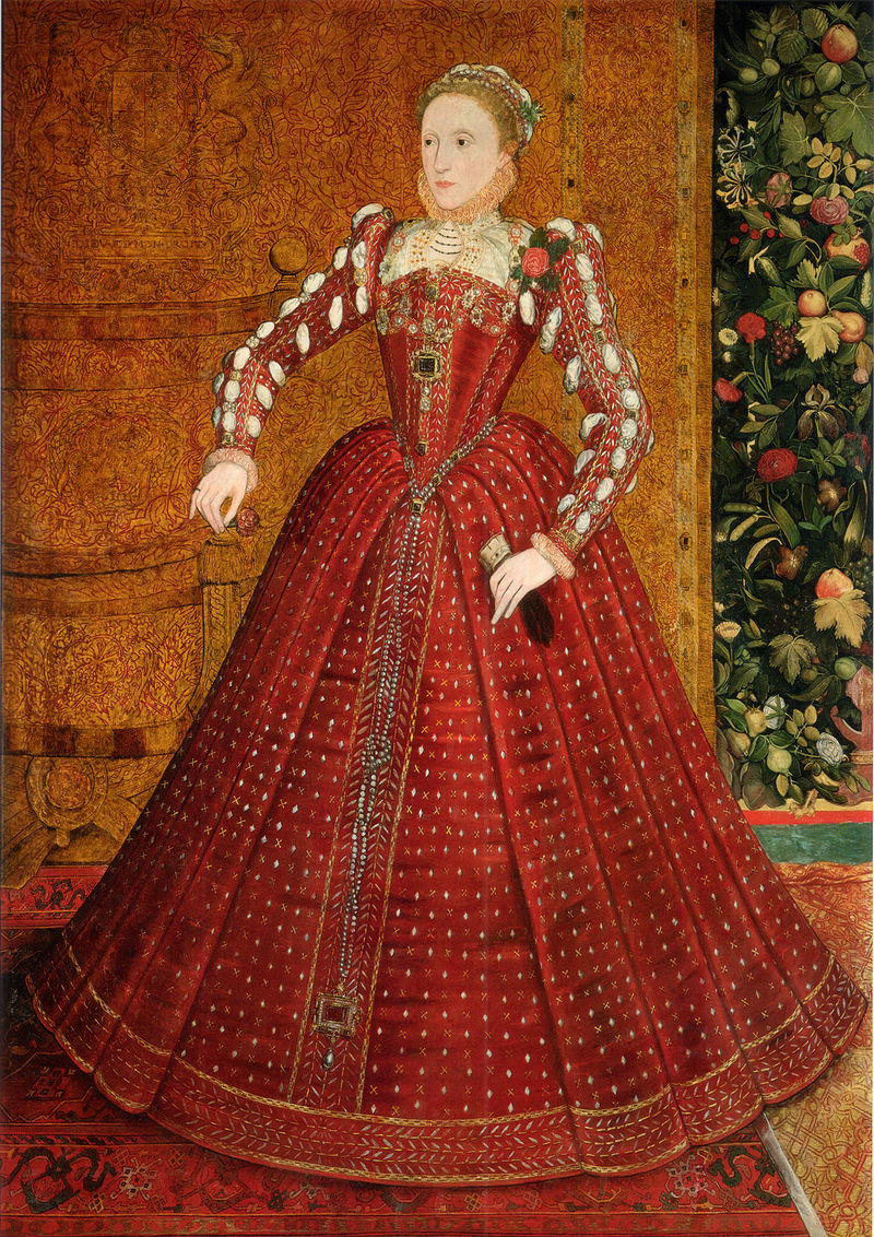 """The Hampden Portrait"" of Elizabeth I by Steven van der Meulen (circa 1563), oil on canvas transferred from panel, private collection"
