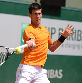 Novak Djokovic this year at the French Open, one of the few tournaments he didn't win.