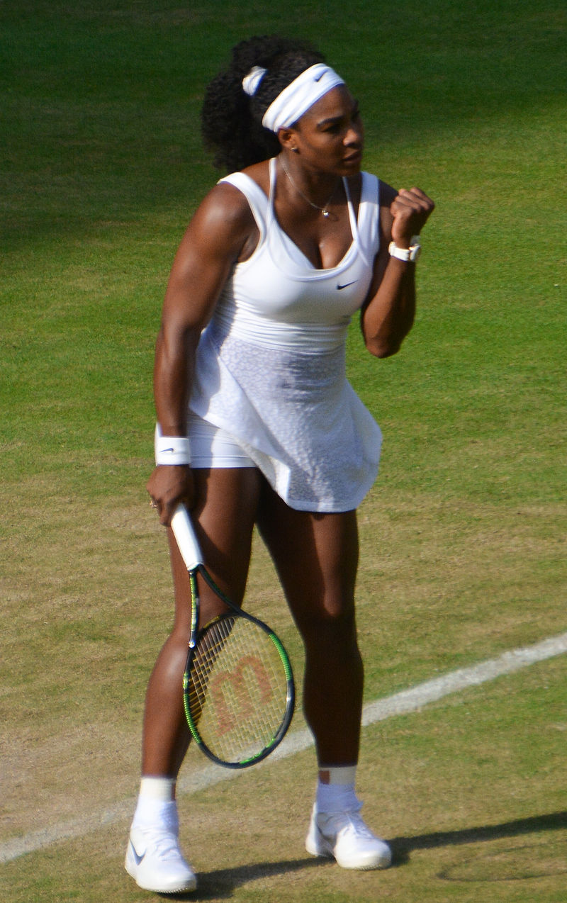 Serena Williams, seen here at Wimbledon earlier this year, is among the women being celebrated for themselves – not just or even their bodies – in the new Pirelli calendar.