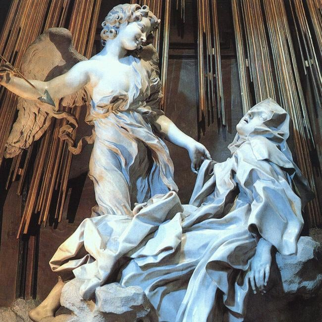 "Bernini's ""The Ecstasy of St. Teresa,"" in the Basilica of Maria della Vittoria in Rome, is an expression of all kinds of beauty – male, female and androgynous. In real life, Bernini slashed the face of his cheating mistress."