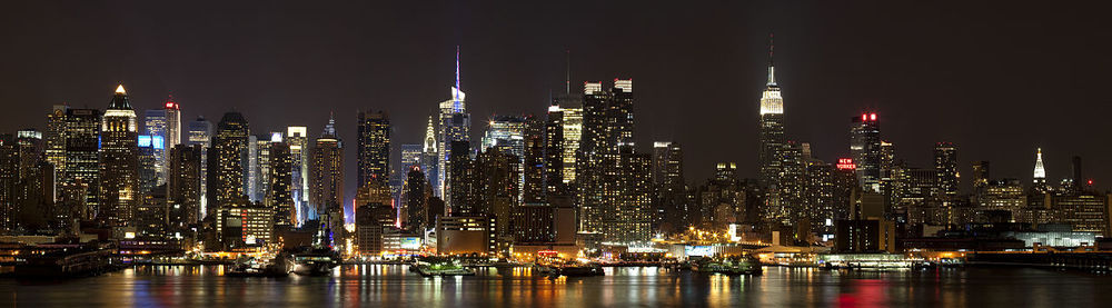 The City That Never Sleeps and the way it looks tonight. Photograph by Dmitry Advee