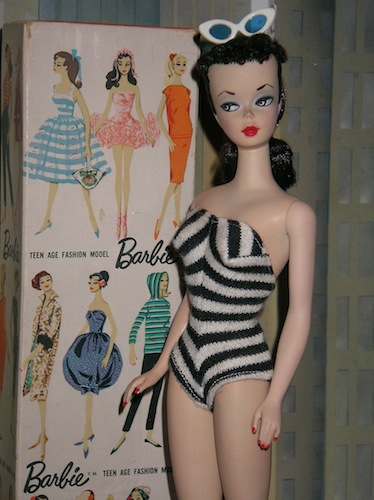 The original Barbie doll, which made its debut in March 1959, may have had a fantasy figure but oh that face.