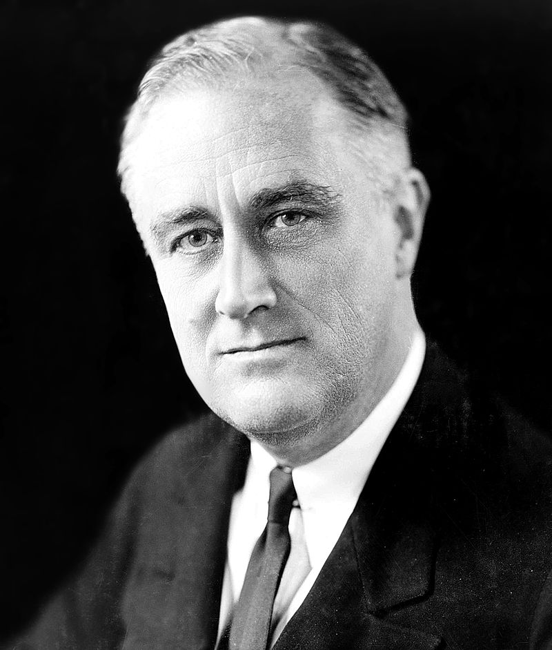 """President Franklin D. Roosevelt in 1933, the year of his First Inaugural Address, in which he told Americans they had """"nothing to fear but fear itself."""" Photograph by Elias Goldensky."""