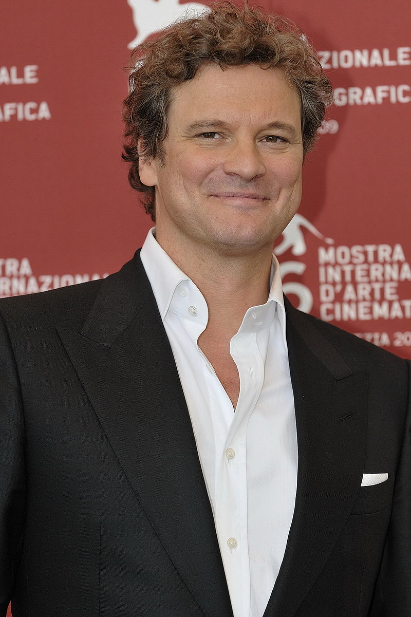 It may not be Mr. Darcy's shirt but this one nicely 'suits' his ever-sartorial alter ego, Colin Firth – seen here at the Venice Film Festival in 2009.