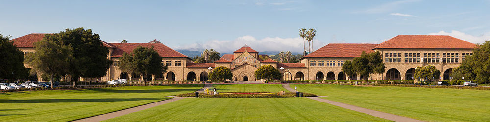 "The main quadrangle at Stanford University, an institution that Slate has dubbed ""the Harvard of the 21st century."""