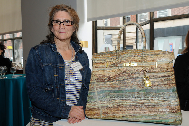 """""""Candy Verde"""" with artist Barbara Segal. Opening reception. Credit:Leslye Smith."""