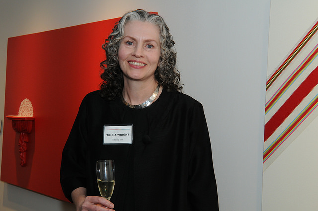 """""""Marginalia"""" with artist Tricia White. Opening reception. Credit:Leslye Smith."""