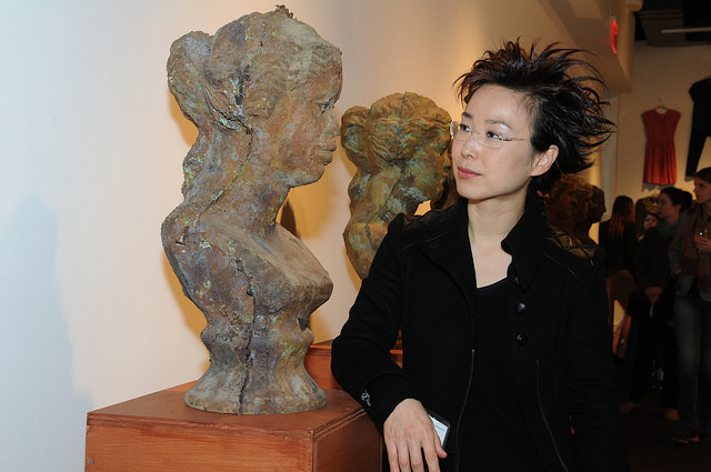 """""""Terms of Beauty VII"""" with artist Debbie Han. Opening reception. Credit:Leslye Smith."""