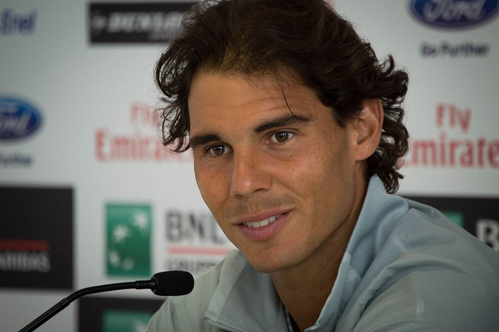 Rafael Nadal, seen here in 2014, won't be at Wimbledon this year. Photograph by Valentina Alemanno.