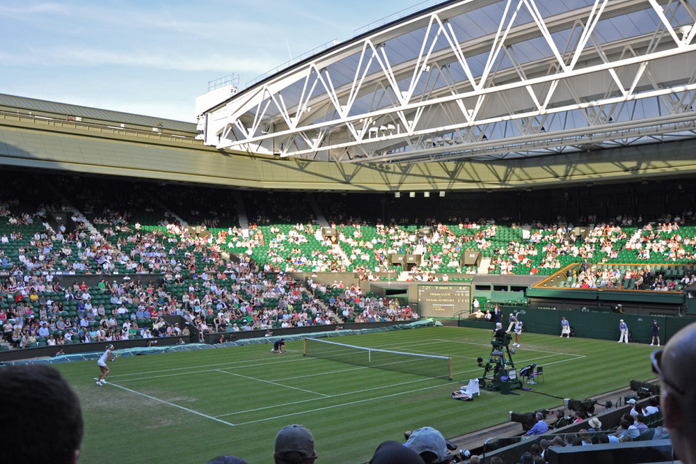 Wimbledon's Centre Court. Photograph by Albert Lee.