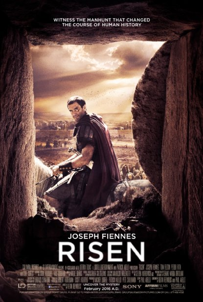 "A stoic Roman played by a stoic Brit – the poster for ""Risen,"" starring Joseph Fiennes as a world-weary tribune tasked with the execution of Jesus."