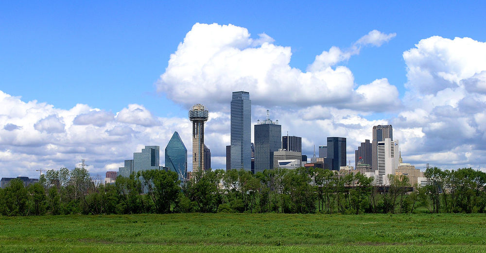Dallas seen from Trinity River Greenbelt Park