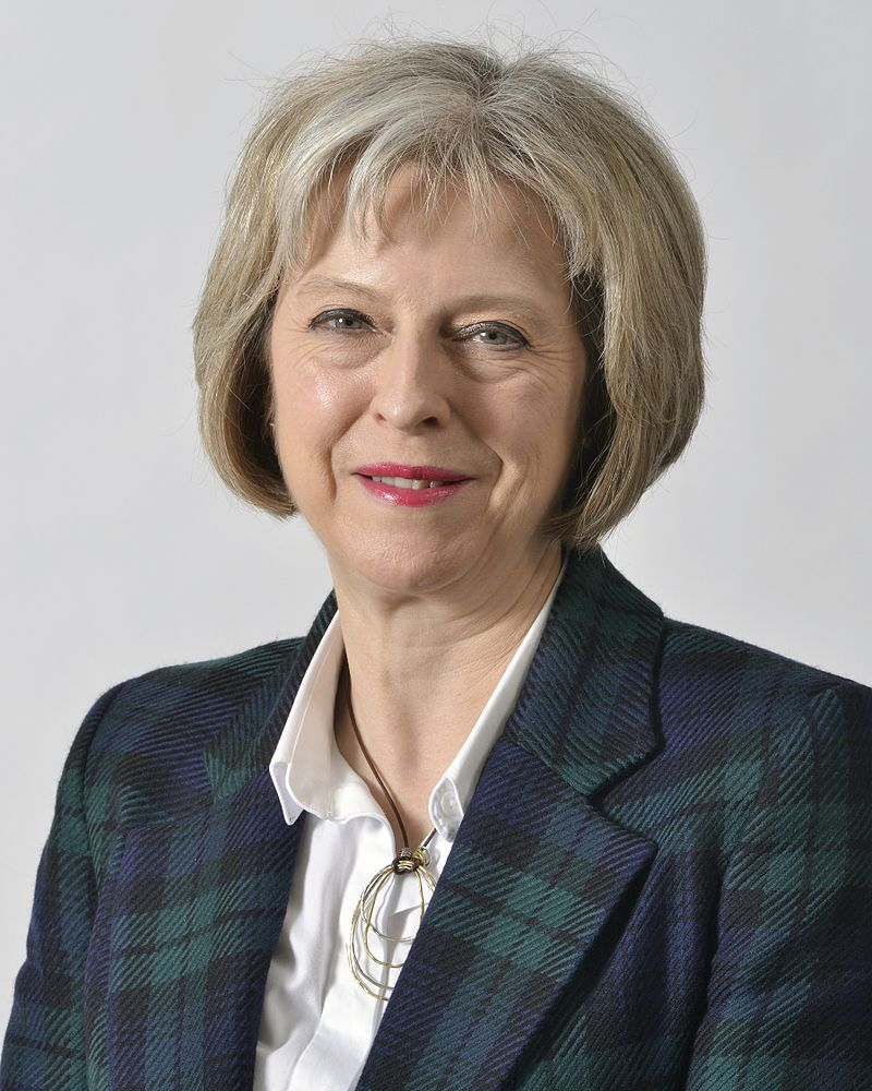 Theresa May, the new prime minister of the United Kingdom. Courtesy UK Home Office.