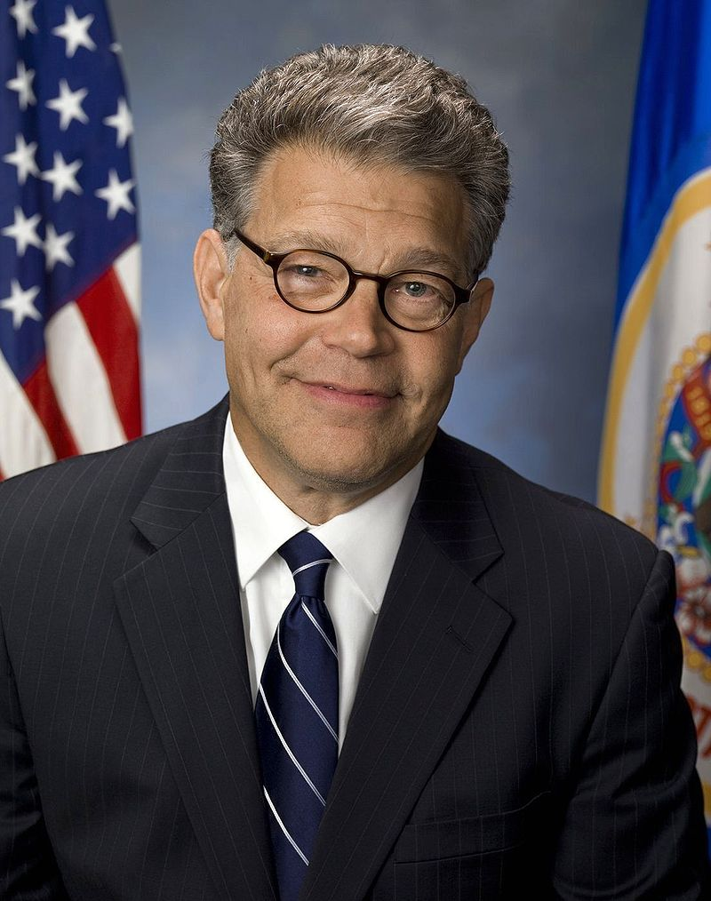 Sen. Al Franken gave a bitingly humorous indictment of Donald Trump on the first night of the Democratic National Convention. Photograph by Jeff McEvoy, U.S. Senate photographer.