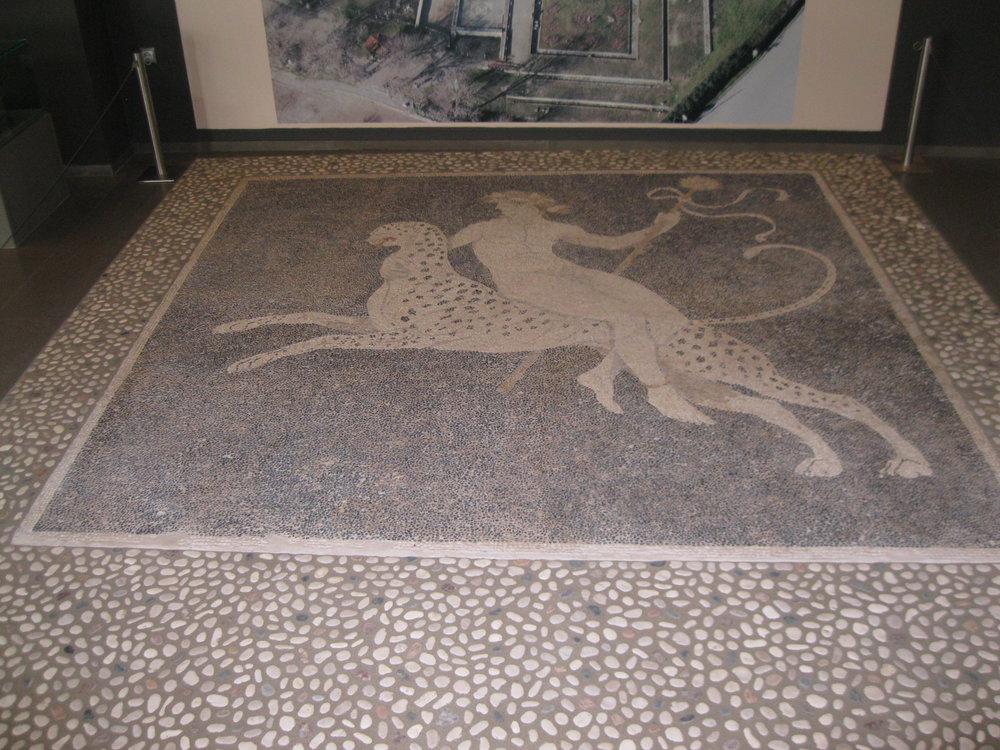 Mosaic of Dionysus. Archaeological Museum of Pella.
