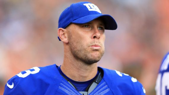Kicker Josh Brown was released by the New York Giants on Tuesday, days after his admission that he abused his wife became public. Andrew Weber/USA TODAY Sports. Image  here .