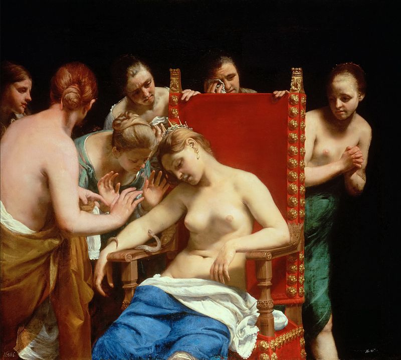 """Guido Cagnacci's """"The Death of Cleopatra"""" (1658)"""