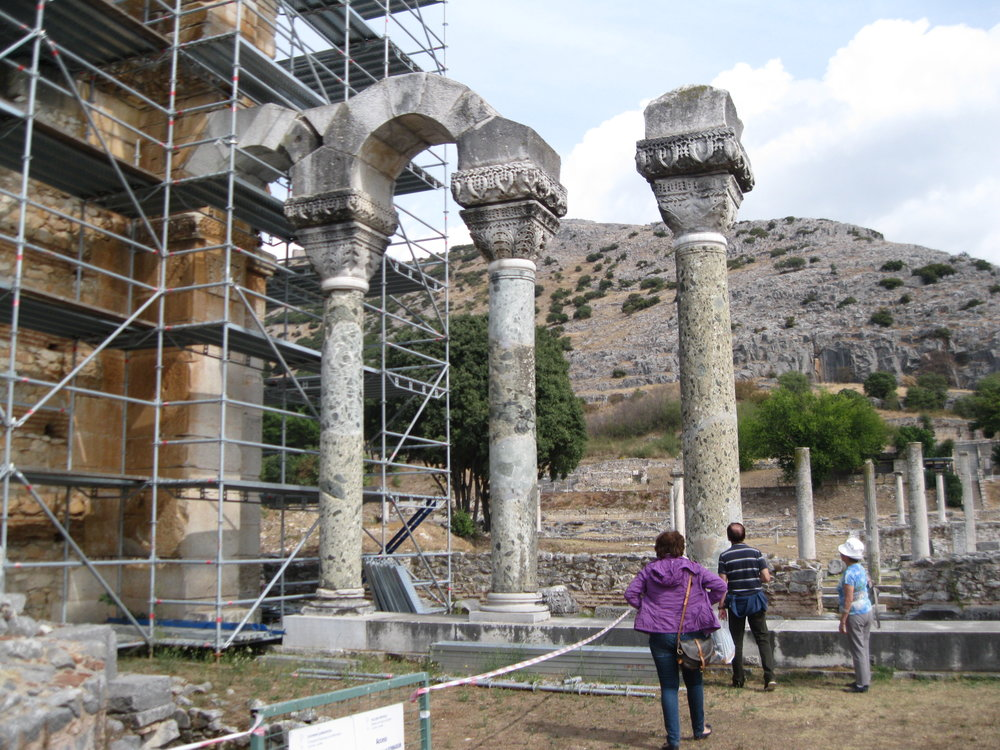 These columns reveal  the rich architecture of Philippi