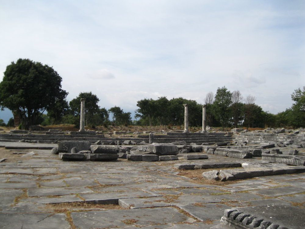 The ruins of a Roman marketplace at Philippi