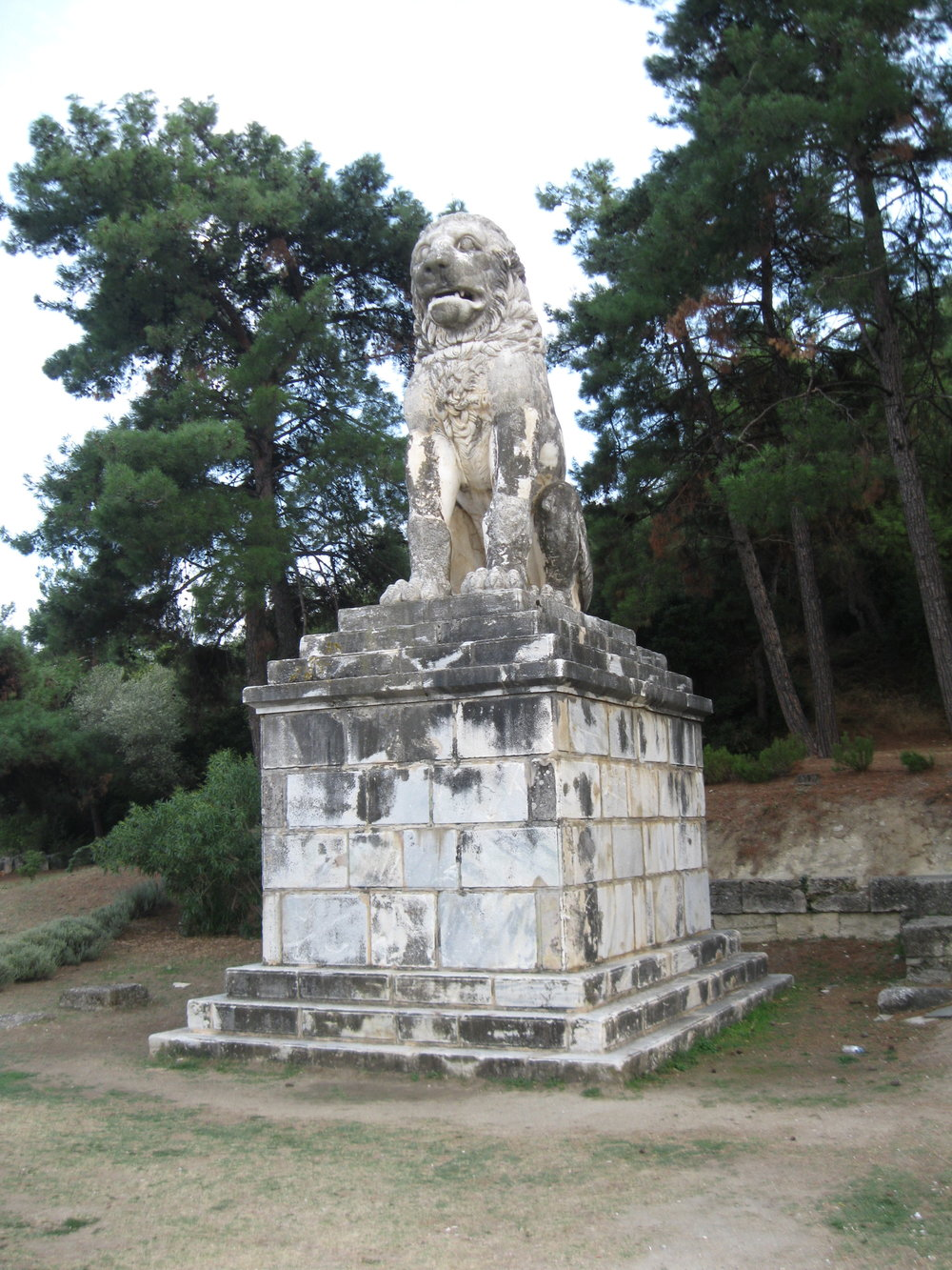 The Lion Monument to Alexander the Great's admiral Laomedian of Lesbos