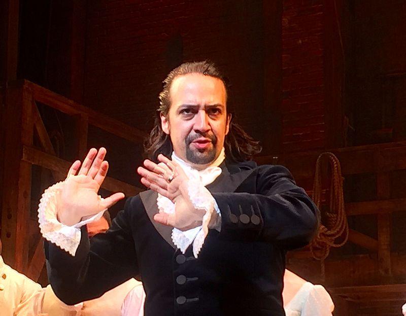 "Lin-Manuel Miranda in ""Hamilton."" Photograph by Steve Jurvetson."