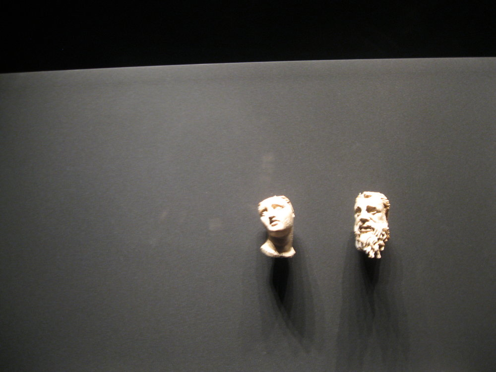 A yearning Alexander (right) at Vergina, a place of power and death.