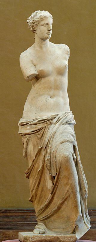 Venus de Milo (circa 130-100 B.C., marble, Musée du Louvre) – vulnerable in her beauty.