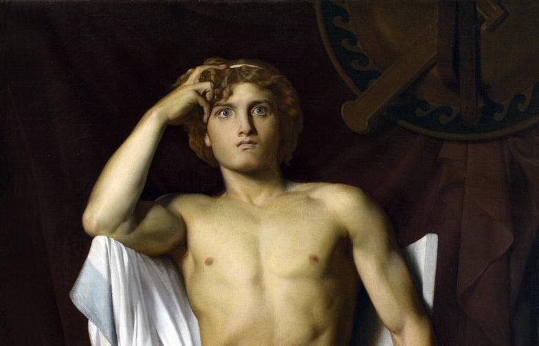 """François-Léon Benouville's """"The Wrath of Achilles"""" (1847), oil on canvas, Musée Fabre."""