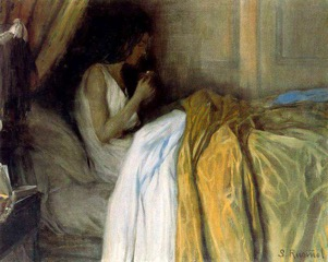 "Santiago  Rusiñol 's ""Before the Morphine,"" an 1890s painting."