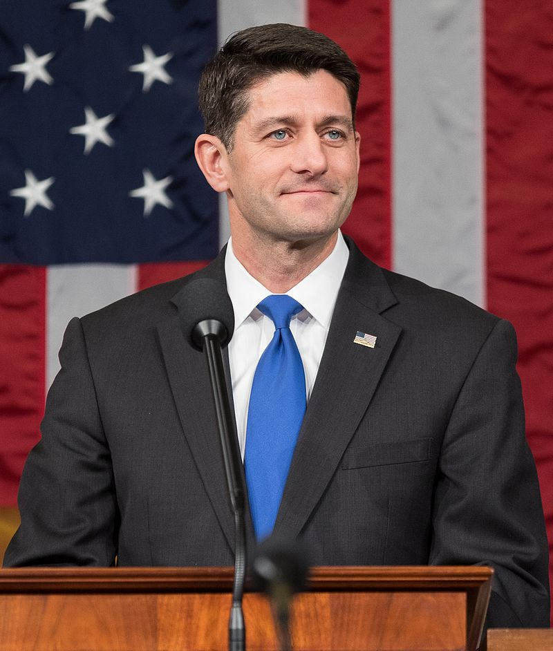 "Paul Ryan, speaker of the U.S. House of Representatives, on Jan. 3 of this year. ""Paulie PowerPoint"" is on the ropes after leading the repeal and replace fiasco. Photograph courtesy U.S. Congress"
