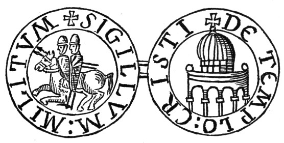 Seal of the Knights Templar. Photograph by Thomas Andrew Archer, Charles Lethbridge Kingsford.