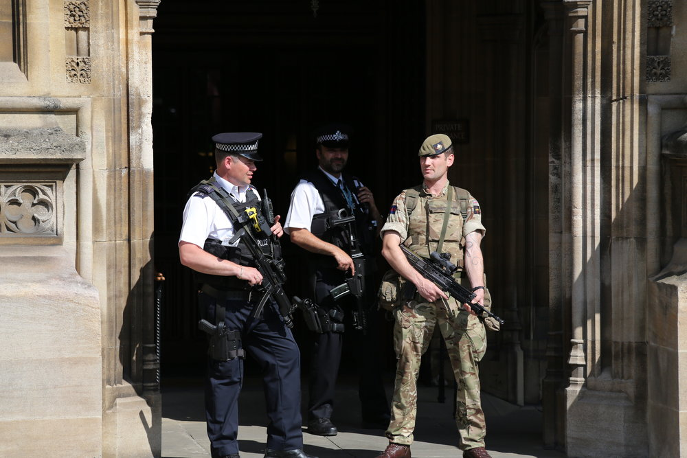 Great Britain's heightened state of security in the wake of the Manchester Arena bombing. Photograph by Katie Chan
