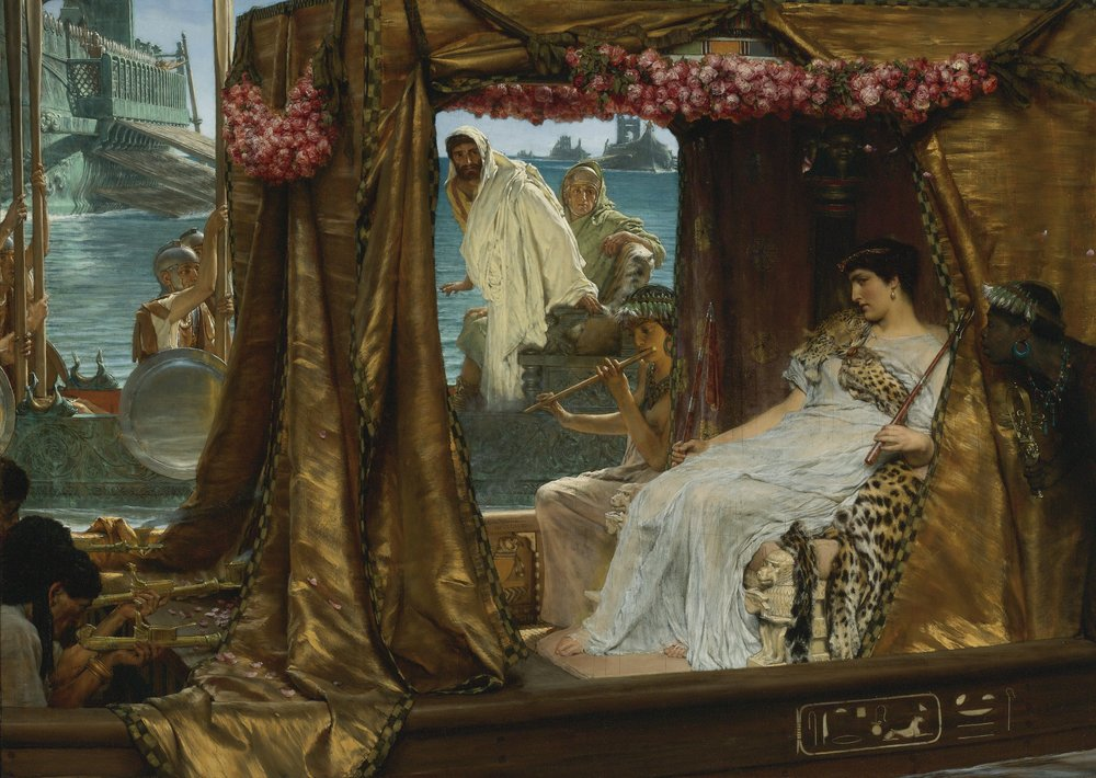 "Lawrence Alma-Tadema's ""The Meeting of Antony and Cleopatra, 41 B.C."" (1885), oil on panel, private collection."