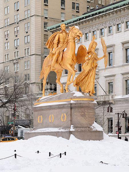 Augustus Saint-Gaudens' Gen. William Tecumseh Sherman in Grand Army Plaza, Manhattan.