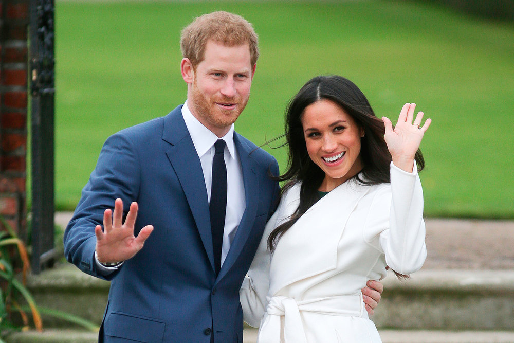 Prince Harry and Megan Merkle have happy news. Image  here .  DANIEL LEAL-OLIVAS/AFP/Getty Images.