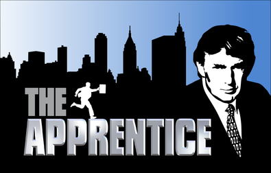 "Logo for ""The Apprentice."" Perhaps what we need is less Twitter Trump and more ""Apprentice"" Trump."