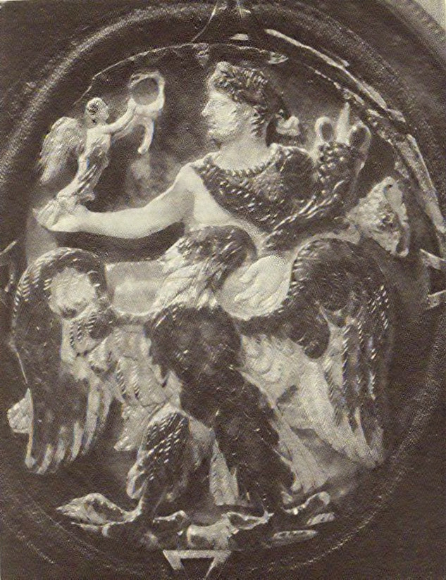"""Apotheosis of Nero,""circa 68, from the Bibliothèque Municipale de Nancy, France."