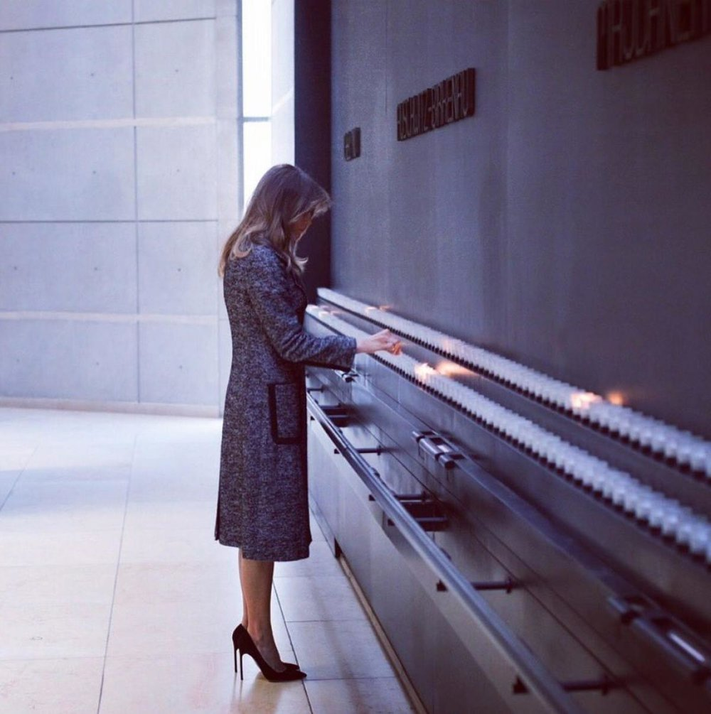 Melania Trump at the U.S. Holocaust Memorial Museum in Washington D.C.