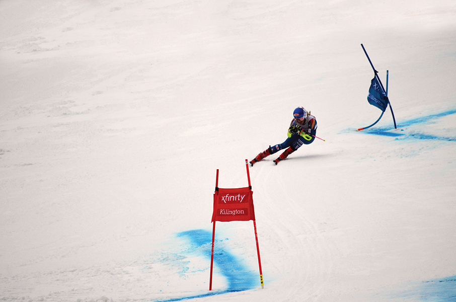Mikaela Shiffrin in action. Photograph by Doug Paulding for  WAG magazine .