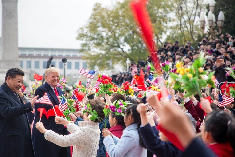 President Donald J. Trump with President Xi Jinping during Trump's visit to China last November. Photograph courtesy The White House/Shealah Craighead.