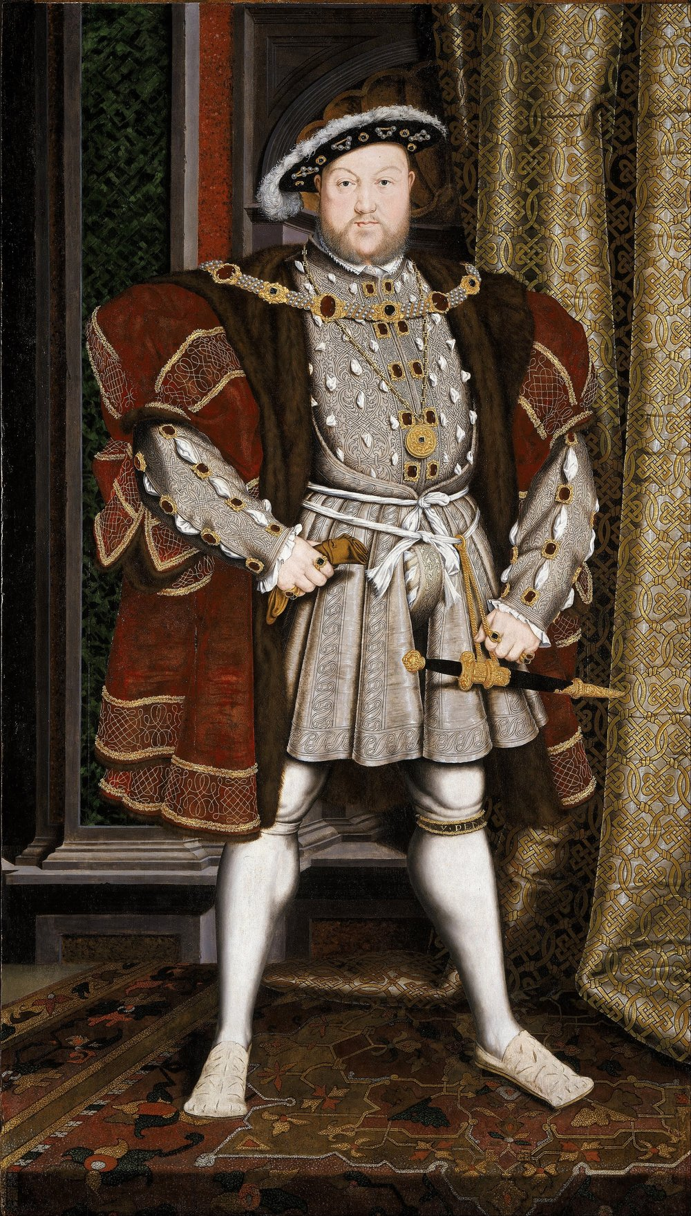 An iconic portrait of Henry VIII from the workshop of Hans Holbein.