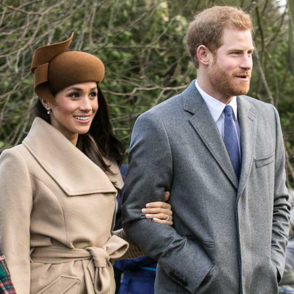 Meghan Markle and Prince Harry attend church at Sandringham on Christmas Day. Photograph by Mark Jones.