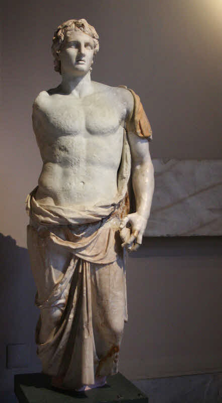 Caption: Statue of Alexander the Great, third century B.C. Istanbul Archaeology Museums.