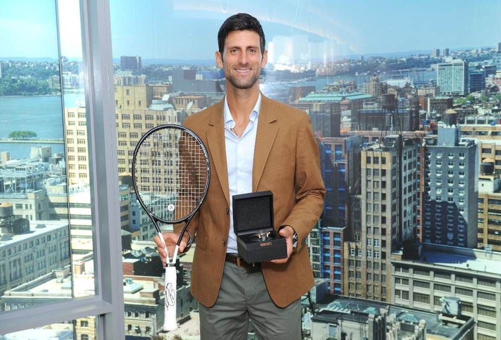 Christie's will be auctioning off an historic Novak Djokovic racket, along with one of his watches, Thursday, Sept. 20.