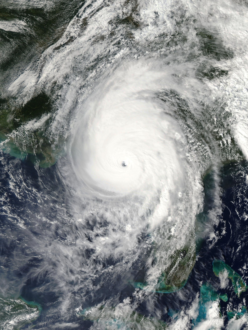 Caption: Hurricane Michael. Courtesy NASA.