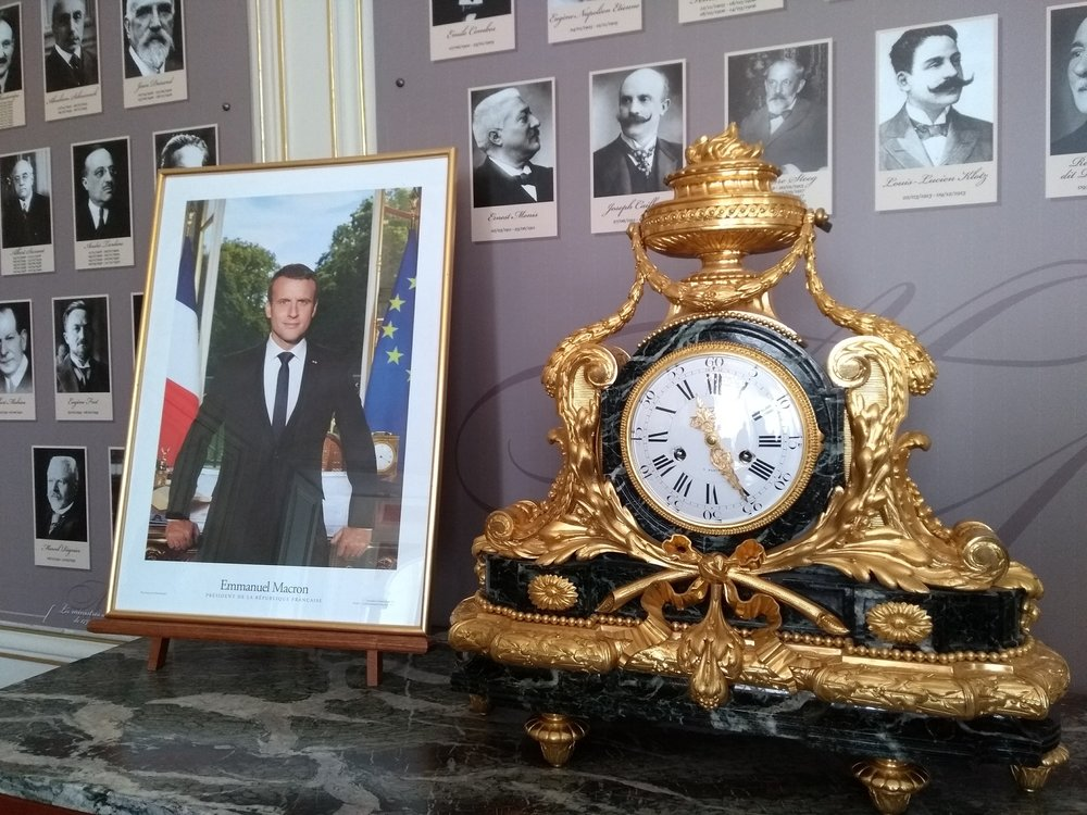 Is time running out for Emmanuel Macron as well as for Theresa May and a Brexit deal? Photograph by Patrick Janicek.
