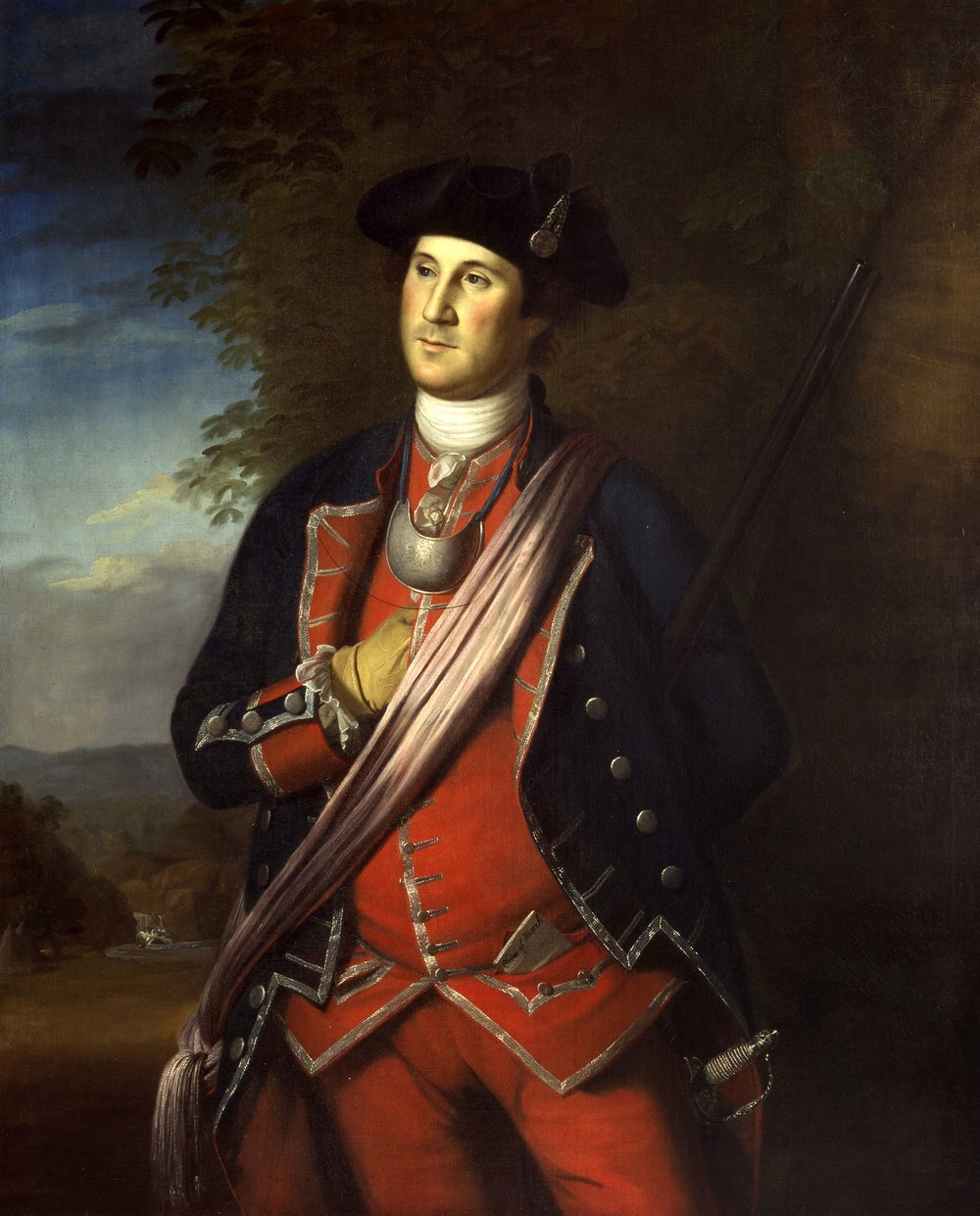 "Charles Wilson Peale's ""Col. George Washington"" (1772), oil on canvas. It's on loan to Mount Vernon from Washington and Lee University."