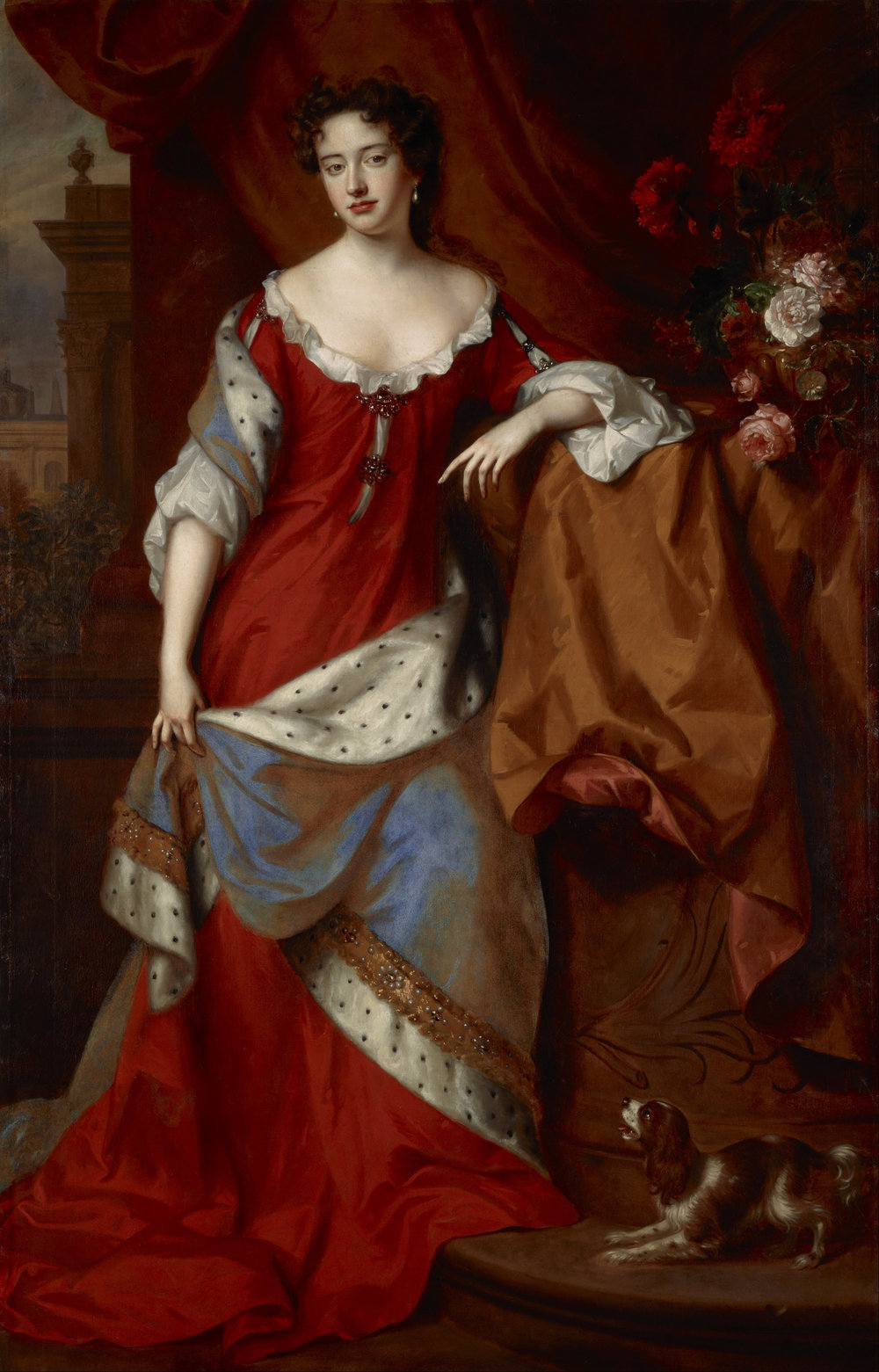 The future Queen Anne of Great Britain as Princess of Denmark, painted by Willem Wissing and Jan van der Vaart (1685, oil on canvas). Scottish National Gallery.