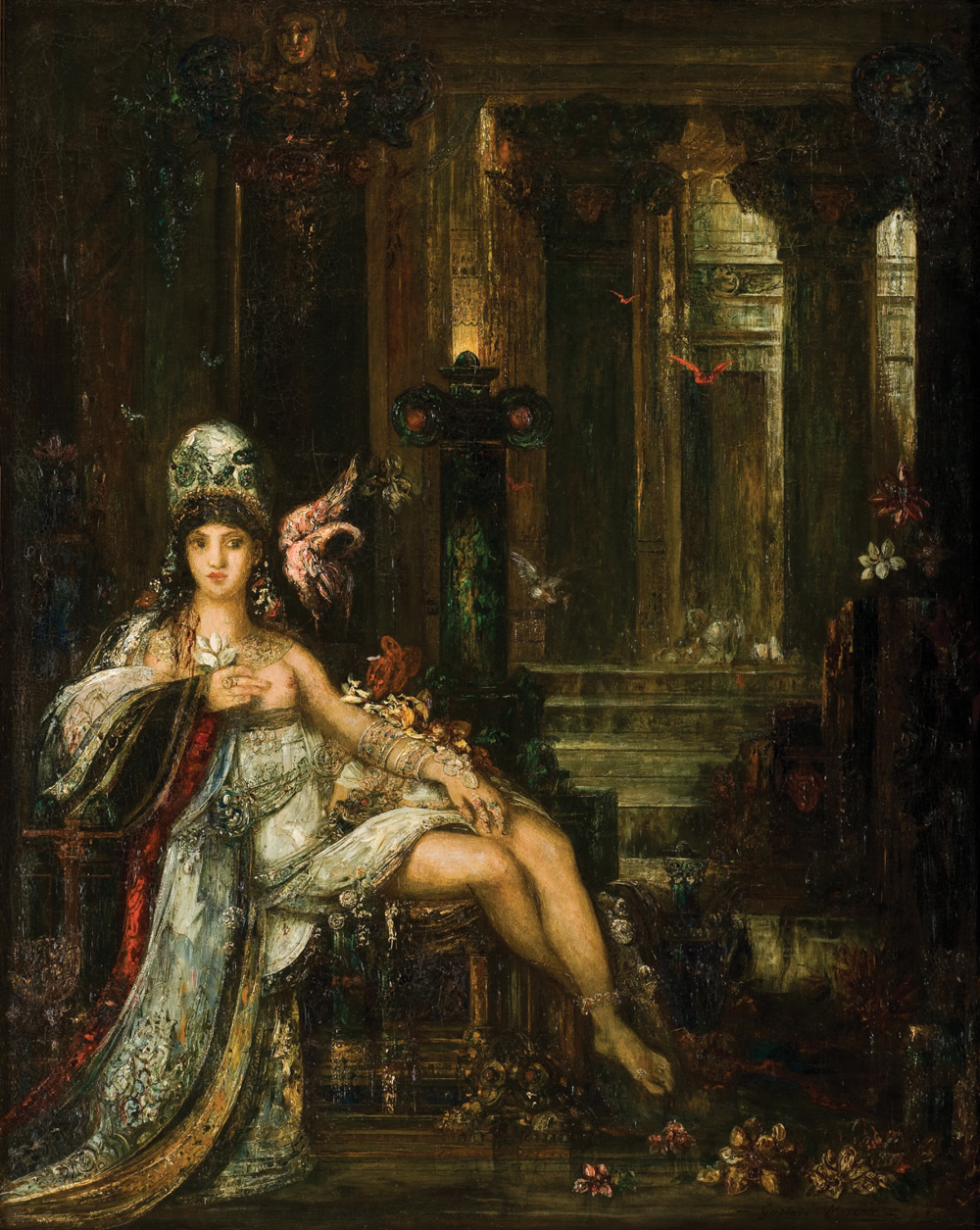 "Gustave Moreau's ""Delilah"" (1896), oil on canvas. Museo de Arte de Ponce."