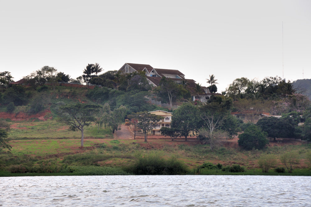 The remains of former Ugandan dictator Idi Amin's palace on Lake Victoria.